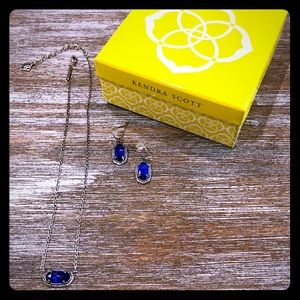 Kendra Scott pendant necklace & matching earrings.